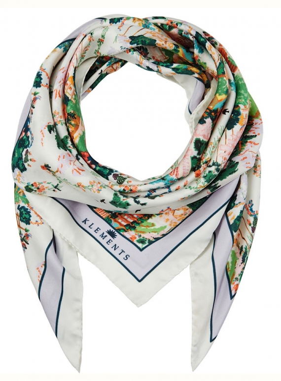 Young British Designers: The Urban Chinoiserie White Scarf by Klements