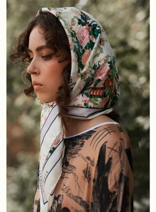 The Urban Chinoiserie White Scarf by Klements