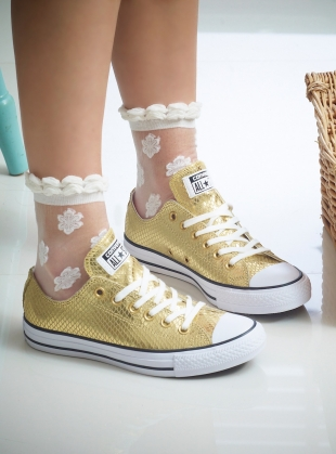 White Jasmine Socks by Cutie Pop