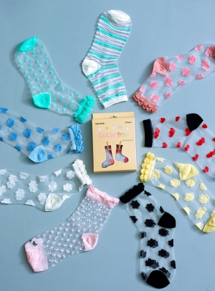 Young British Designers: Pink Rose Socks by Cutie Pop
