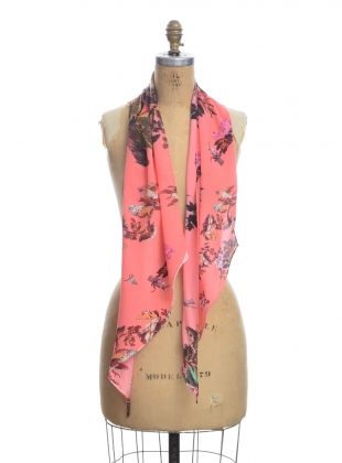 Young British Designers: The Razor Scarf. Hazed Sunset by Klements
