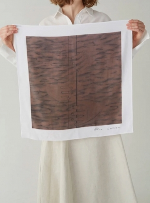 Young British Designers: 'WOODWIND WITH THREE HANDS' ORGANIC SILK SCARF- last one by BITE STUDIOS