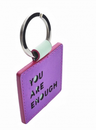 YOU ARE ENOUGH Key Ring by Marlow London