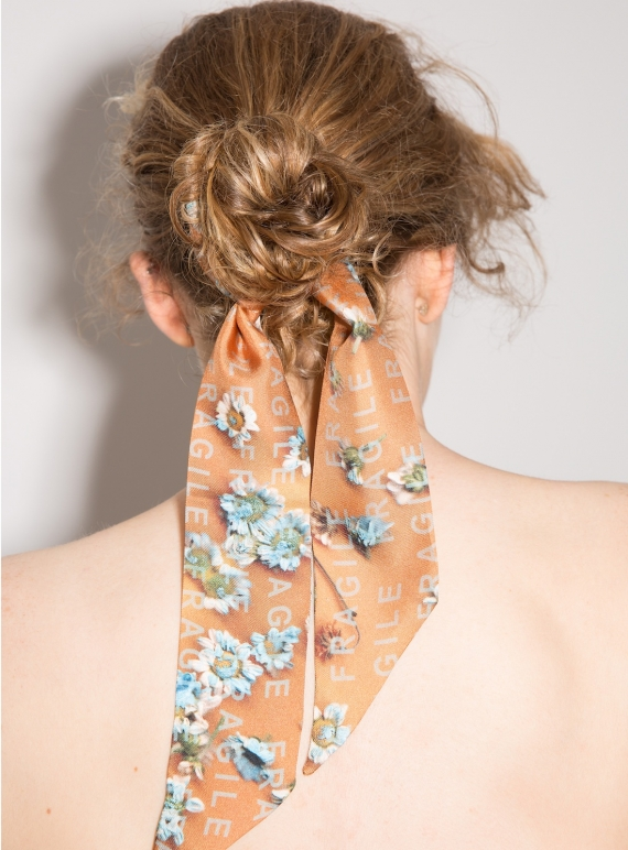 Young British Designers: SILK SCARF - FRAGILE by Marlow London