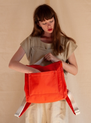 MINI BOX RUCKSACK. Orange by Kate Sheridan