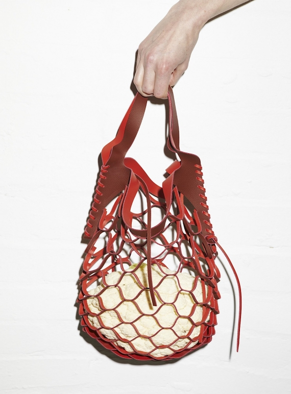 Young British Designers: MAVIKA BAG in Dark Red by Eudon Choi