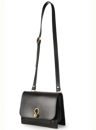 Young British Designers: Eddie Box Crossbody Bag in Smooth Black by Danielle Foster