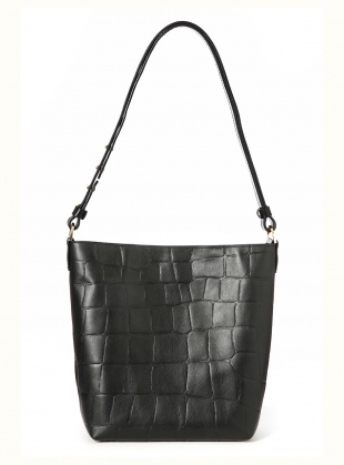 Nora Mini Shoulder Bag in Black Croc Leather by Danielle Foster