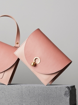 Young British Designers: Charlie Box Crossbody Bag in Pink by Danielle Foster