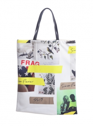 VISCOSE TOTE BAG with BIRDS by Simeon Farrar
