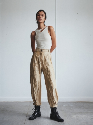 THE ANKLE BUCKLE TROUSERS  by WEN PAN