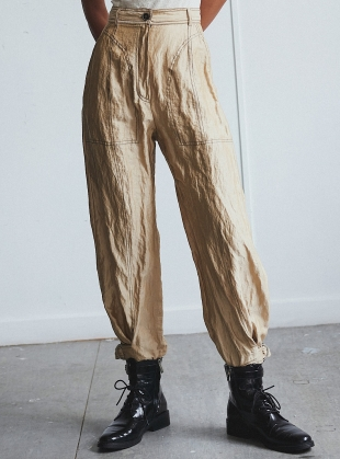 Young British Designers: THE ANKLE BUCKLE TROUSERS  by WEN PAN