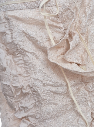 Young British Designers: Natural Textured Bustle Skirt - last one (S) by Renli Su