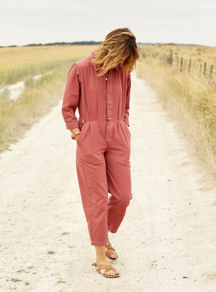 Isabel Boilersuit in Washed Red - Sold out by SIDELINE