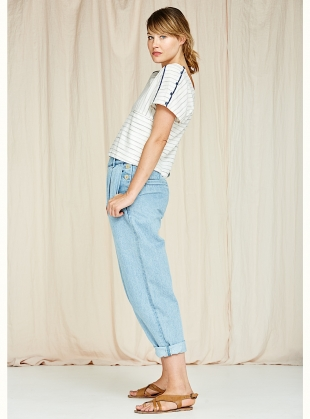 Young British Designers: Pia Jeans in Light Wash Mid Denim - Sold out by SIDELINE