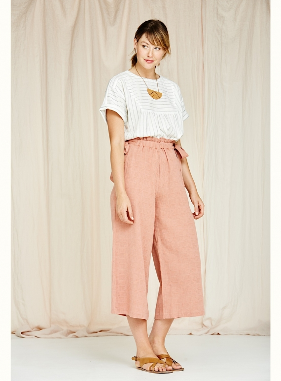 Young British Designers: Poppy Culottes in Washed Pink - Last pair by SIDELINE