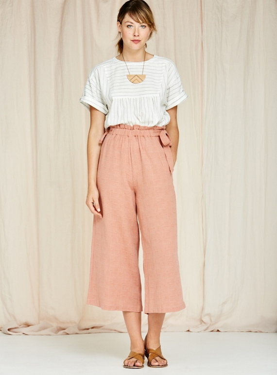 Young British Designers: Poppy Culottes in Washed Pink - last pair (xs) by SIDELINE