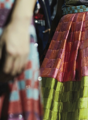 Young British Designers: Woven Full Skirt by Sadie Williams