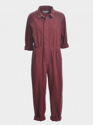 Young British Designers: Isabel Boilersuit in Washed Red - Last one by SIDELINE