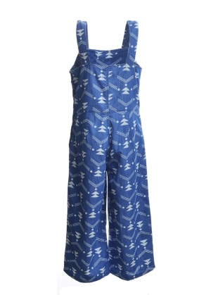 Young British Designers: Solar Jumpsuit in Chambray Print by SIDELINE
