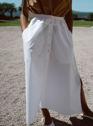 HEAVEN BUTTON THROUGH SKIRT  by Belize