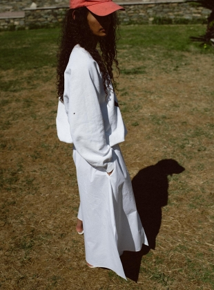 Young British Designers: HEAVEN BUTTON THROUGH SKIRT  by Belize