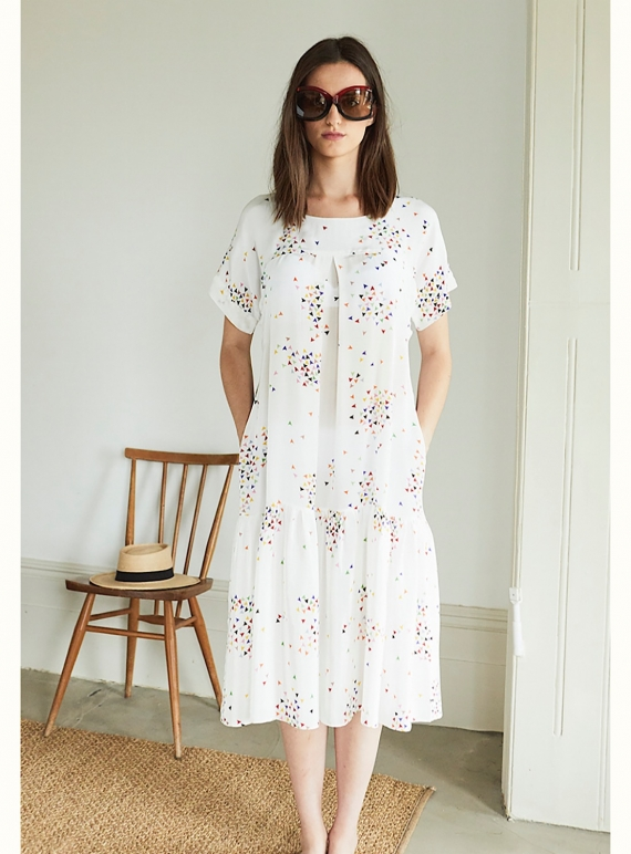 Young British Designers: ZOE POCKET DRESS in COURT and SPARK - Sold out by Tallulah & Hope