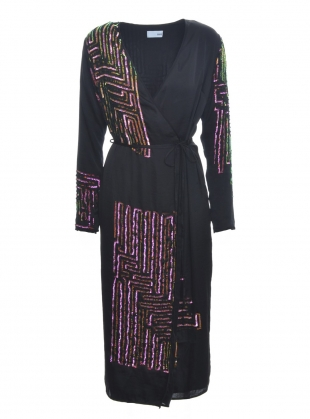 MAZE MIDI WRAP DRESS  by MANÉ
