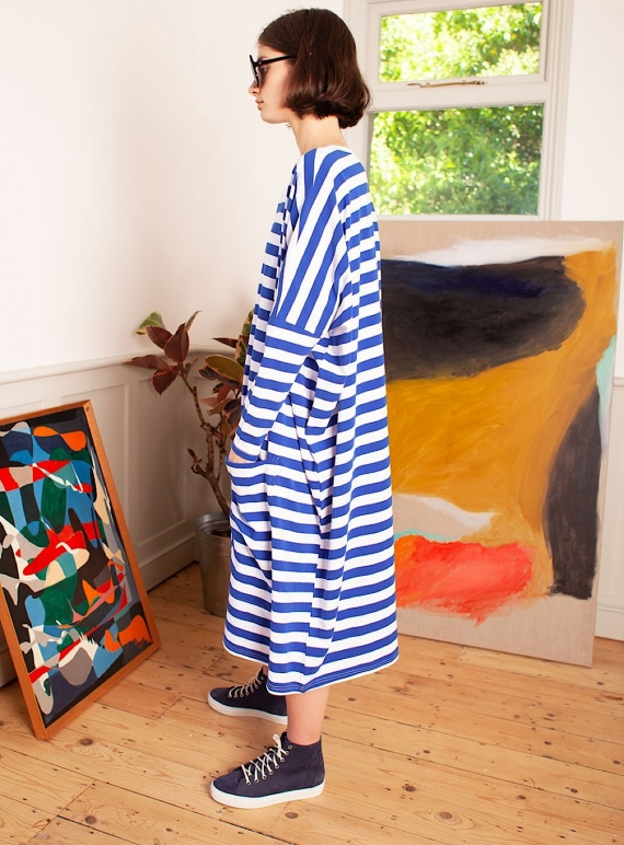 MILO DRESS. Blue Stripe by LF Markey