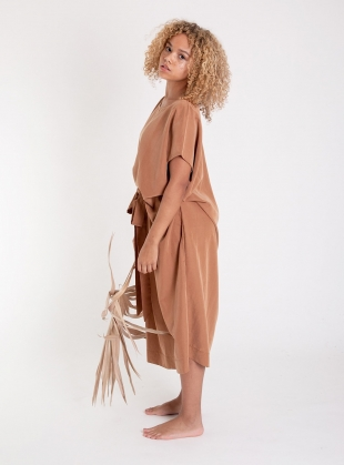 JOY COFFEE MIDI DRESS by Beaumont Organic
