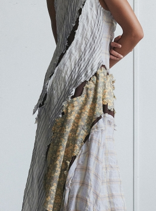 Young British Designers: AN ASYMMETRICAL CRACK DRESS  by WEN PAN