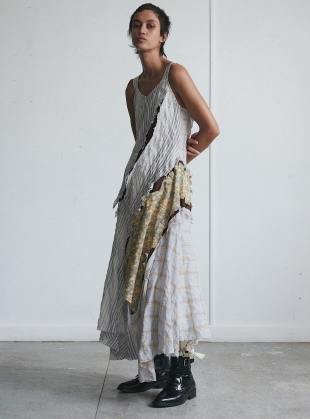 AN ASYMMETRICAL CRACK DRESS by WEN PAN