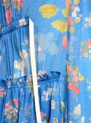 Young British Designers: Blue Fruit & Floral Dress by Renli Su