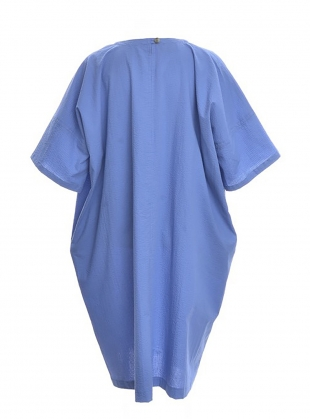 Young British Designers: EDIE OVERSIZED DRESS. Blue by Kate Sheridan