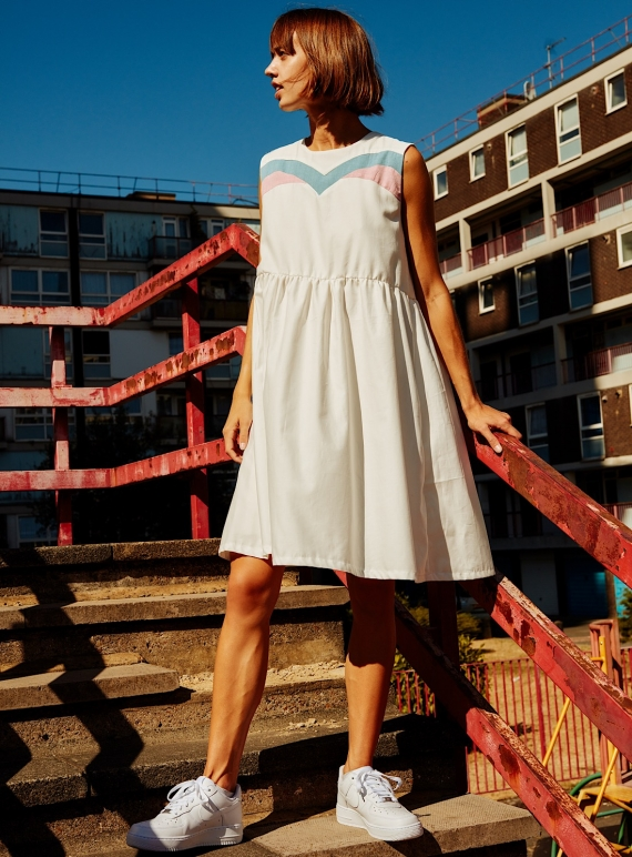 Young British Designers: IVY. White Smock Dress  by RIYKA
