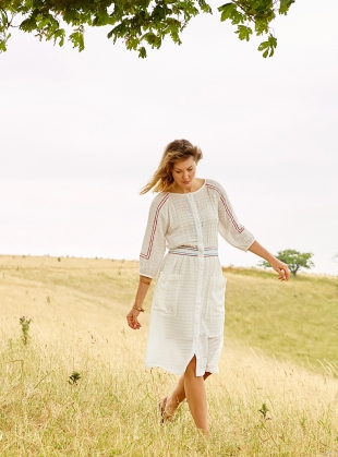 Young British Designers: Roxie Dress. White by SIDELINE
