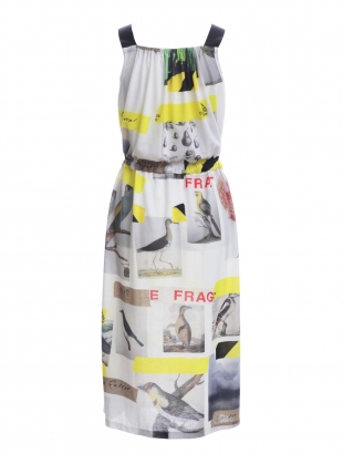 Young British Designers: Sleeveless DRESS with BIRDS  by Simeon Farrar