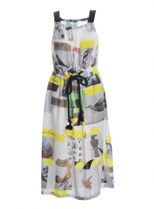 Young British Designers: Sleeveless DRESS with BIRDS - last one by Simeon Farrar