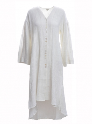 MATHILDE Hand-Loomed Shirt Dress by Belize