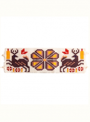 Young British Designers: Huichol Beaded Bracelet: Grape by Beshlie McKelvie