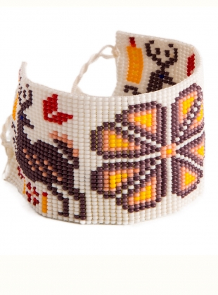 Huichol Beaded Bracelet: Grape - last one by Beshlie McKelvie