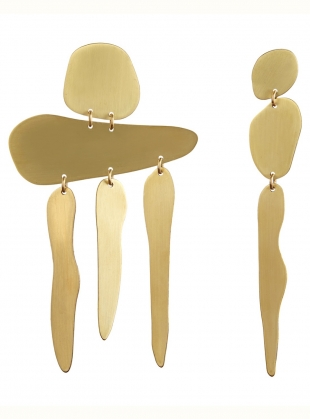 Young British Designers: GIA FALL EARRINGS. Brass by Ruby Jack