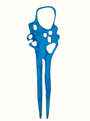 Young British Designers: SIA PIN. Blue by Ruby Jack