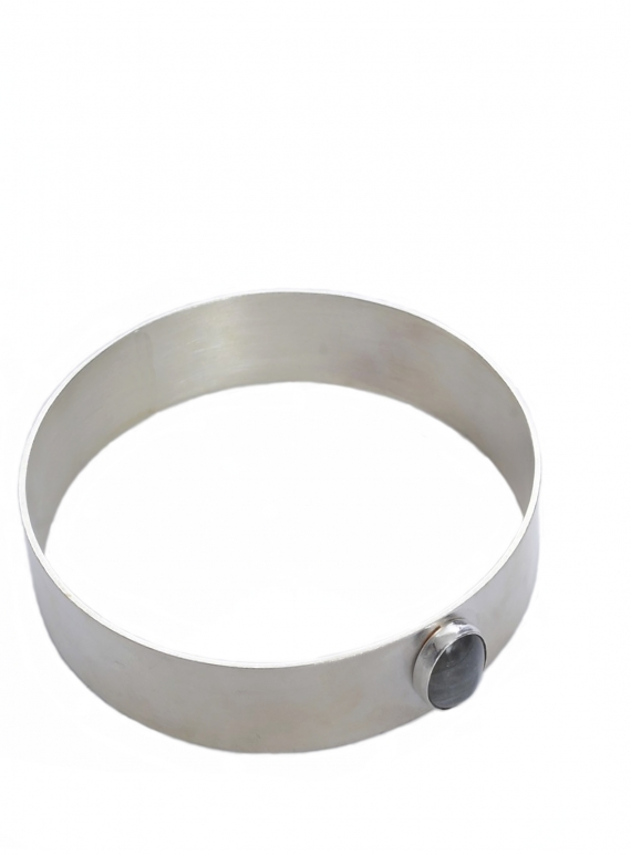 Young British Designers: GWYNETH RECYCLED SILVER BANGLE by Beaumont Organic
