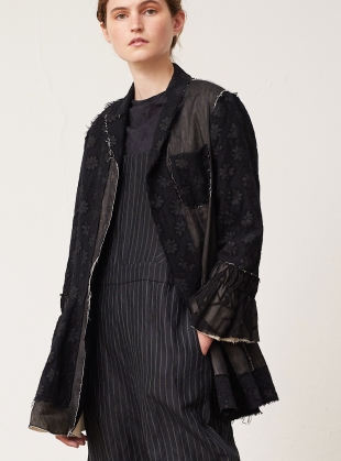 Young British Designers: Hand-Crafted Black Patchwork Jacket by Renli Su