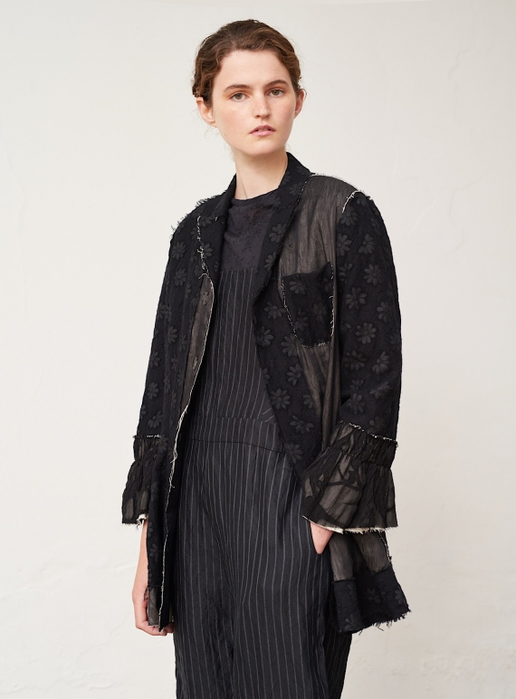 Young British Designers: Hand-Crafted Black Patchwork Jacket - last one (S) by Renli Su