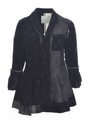 Hand-Crafted Black Patchwork Jacket - last one (S) by Renli Su