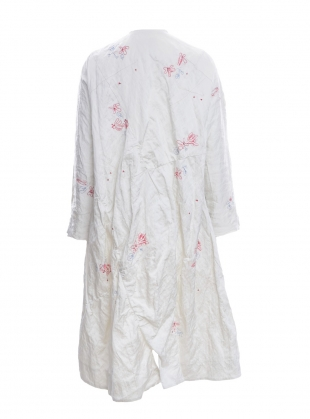 Young British Designers: Hand Embroidered Soft White Coat by Renli Su