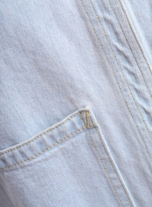 Young British Designers: Rudy Jacket in Light Wash Denim - last one by SIDELINE