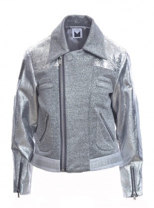 Young British Designers: Biker Jacket in Silver by Sadie Williams